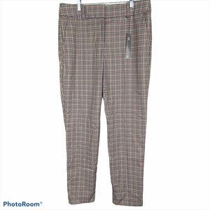 Loft NWT Curvy Slim Plaid Pants 10 Tall